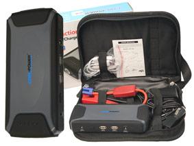AVVIATORE BOOSTER  ALIMENTATORE CP-09 12V 12000mA polimeri di litio.JUMP START 12V VEICOLOALIMENTATORE PER TELEFONO, NOTEBOOK, MP3 / MP4, PSP, fotocamera e altri dispositivi digitaliLUCE LED (LUCE, LAMPEGGIANTE, SOS)CARATTERISTICHECapacità: 12000mAhIngresso: 12 V = 1AUscita: 5V/1A , 5V / 2A ; 12V Jump StartCorrente: 200ACorrente di picco: 400ATempo di ricarica: 5.5 OreDimensioni: 132 * 75 * 24mmPeso: 288gDurata:> 1000 cicliProtezioni: prova di cortocircuito, protezione sovraccaricoACCESSORI:Caricatore per casa x 1Caricabatteria da auto x 1Jumper morsetti x 1Cellulare cavo connettori x 4 + interruttore x 1
