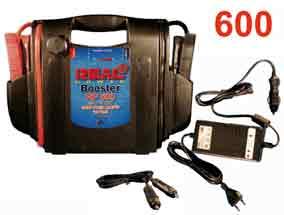 AVVIATORE BOOSTER PROFESSIONALE-Tensione di uscita12 V.-Ampere di picco2200 A.-Batteria Genesis12V 16Ah-Ampere continui650 A.-Caricatore da rete automatico:´Input 240 VAC  Output 12V 1.5A max.´-Cavo accendisigari-Pinze isolate-Diametro cavi: 25 mm-Lunghezza cavi: 85 cm-Protezione sovratensione -Contenitore antiurto ABS-Peso: 8 KG-Dimensioni:  L / H / P 37/27/9 CM