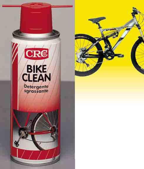 BIKE CLEANDetergente sgrassanteDetergente per catenee rocchetti di biciclette• Sgrassa e pulisce rocchetti, catena, deragliatore,leveraggi dei freni, assi e mozzi.• Elimina olio, grasso, morchia, penetrando senzarichiedere smontaggi.• Evapora rapidamente. Non lascia alcun residuo. Confezione: Aerosol Gr./ml: 200 ml