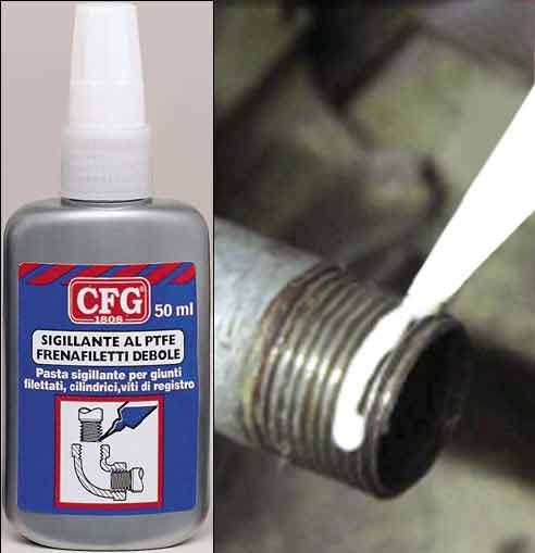 Pasta sigillante per giunti filettati, cilindrici, viti di registro Confezione: Flacone Gr./ml: 50 ml