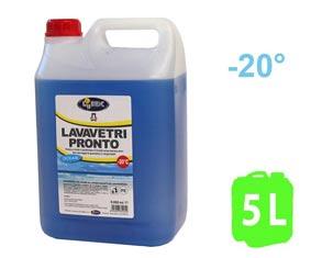 LAVACRISTALLI LUBEX VETRI 5000 mlDetergente sgrassante antigelo per impianti lavavetro. Diluibile fino a 10 volteProtezione antigelo fino a -20 °C• Detergente specifico per la pulizia dei parabrezza.• Non lascia aloni. Sgrassa la superfice del vetro con la massima efficacia, eliminando sporco ed insetti.• Usato puro, protegge dal gelo l´impianto lavavetri fino a temperature di -22 °C. Potere detergente attivo anche se diluito fino a dieci volte in acqua. Confezione: Tanica Gr./ml: 5000 ml