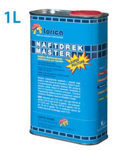 Superpulitore antialga è un additivo per gasolio esclusivo, a base di avanzati componenti selezionati, che rimuovono in modo eccellente sedimenti, depositi e alghe da valvole EGR , corpi farfallati,  dagli iniettori,  dalla camera di combustone, valvole ed in tutto il sistema di alimentazione con estrema efficacia.APPLICAZIONI:NAFTDREK MASTER - Superpulitore è indicato per il trattamento del gasolio da autotrazione per motori diesel che equipaggiano qualsiasi tipo di autovetture, veicoli industriali, trattori, mezzi rotabili, imbarcazioni, natanti, gruppi elettrogeni.USO:Per la massima resa pulente:Aggiungere NAFTDREK MASTER - Superpulitore al gasolio nella dose di 1:200 (0,50%), per assicurare la rimozione profonda dei depositi e dei sedimenti carboniosi. Per l´uso continuativo di mantenimento la dose consigliata è di 1:400 (0,25%).Per rimessaggio:Nella dose di 3:100 (3%) utilizzato in modo preventivo NAFTDREK MASTER - Superpulitore contrasta con eccellenza la formazione di alghe e batteri in presenza di acqua, di condensa e di temperature calde nelle cisterne di riempimento, in modo particolare se viene utilizzato gasolio con percentuali di Bio-Diesel anche maggiori del 7%.- Rimuove in modo eccellente sedimenti e depositi da tutto il sistema di alimentazione, iniettori, valvole e camera di combustione (Clean up).-  Ripristina una eccellente polverizzazione del gasolio garantendo la pulizia degli iniettori offrendo una migliore e regolare combustione, riducendo i fumi allo scarico.-  Migliora il rendimento del motore, riduce il consumo di gasolio e abbatte i fumi allo scarico.-  Contrasta eccellentemente la formazione di alghe e batteri in presenza di acqua, condensa e temperature calde in modo particolare se viene utilizzato gasolio con percentuali di Bio-diesel anche maggiori del 7%.-  Garantisce una efficace azione lubrificante e protettiva sulla pompa d´iniezione e sui vari organi del sistema d´alimentazione, con tutte le tipologie di gasolio anche a basso teno