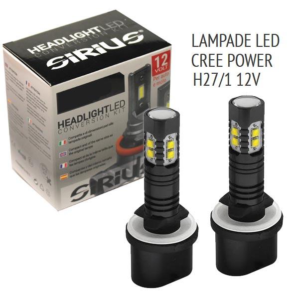 Con la nuova gamma Sirius, siamo riusciti in un´impresa impossibile: realizzare lampade LED per fari di proiezione senzaalcuna centralina esterna, senza ventola e senza dissipatore.Il risultato è una lampada con dimensioni pressochè identiche ad una normale lampada ricambio alogena.- Dimensioni pari all´originale- Senza dissipatore e senza centralina Base: H27 880-881 Volt/Watt: 9-18V 13W