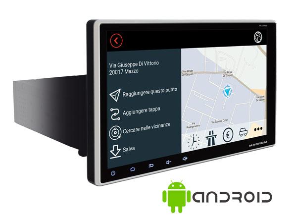DESCRIZIONE:Disponibile anche la funzione DAB+ tramite l'ausilio del modulo M-AN.DABPer chi preferisce la tradizionale navigazione con cartografia off-line, AN900 può essere equipaggiata con la Mappa Europa (43 paesi) OPZIONALEFUNZIONI:Sintonizzatore FM/AM con RDSDAB+ optionalRicevitore GPS integratoNavigazione OnlineNetwork & WI-FI- HotspotViva voce BluetoothA2DP music streamingLettore di memoria USB (2 posteriori)Sistema multilinguaIlluminazione RGBGUI selezionabile a 7 coloriLogo di benvenuto personalizzatoSWC programmabile integratoIngresso telecamera posterioreIngresso fotocamera frontaleDATI TECNICI:Sistema operativo Android 9.0CPU Quad Core ARM A7 4*1.2 GHzMemoria RAM 2GB DDR3Memoria Flash 169 pollici Display capacitivoRisoluzione 1920*1080 pixelsAmplificatore 4*45W Mosfet Output4 uscite audio preamplificate1 uscita subwoofer preamplificataEqualizzatore grafico a 9 bande1 Ingresso audio video2 uscite videoIngresso telecamera posterioreIngresso fotocamera frontale