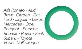 KIT 25 pz  O-RING aria condizionata in HnbrAlfa Romeo - Audi Bmw - Citroen - Fiat Ford - Jaguar - Lexus Mercedes - Opel Peugeot - Porsche Renault - Rover - Saab Subaru - Toyota Volvo - Volkswagen