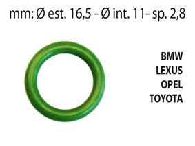 KIT 25 pz  O-RING aria condizionata in HnbrBMW, LEXUS, OPEL , TOYOTA