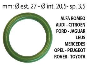 KIT 25 pz  O-RING aria condizionata in HnbrALFA ROMEO, AUDI, CITROEN, FORD, JAGUAR, LEXUS,MERCEDES, OPEL, PEUGEOT, ROVER, TOYOTA