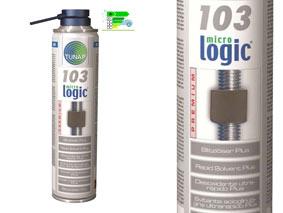 micrologic¸ PREMIUM 103Solvente sbloccante rapido plus300mlCARATTERISTICHE TECNICHE:Formula con nano particelle che evita il grippaggio e assicura un facile smontaggio.Ottima penetrazione. Utilizzabile anche su componenti soggetti ad alte temperature. Respinge umidità e condensa. Elevato effetto lubrificante. Non sporca.Effetto ghiaccio (crack).AREA DI UTILIZZO: Per lo sbloccaggio di cerniere, bulloni, articolazioni, dadi collettore, viti della marmitta, dadi turbina. Ideale anche su leghe o metalli non ferrosi. Confezione: Aerosol Gr./ml: 300 ml