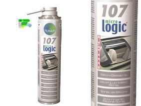 micrologic¸ PREMIUM 107Spray lubrificante al silicone300mlCARATTERISTICHE TECNICHE: Stabilità termica (-30›C e +180›C e per brevi periodi oltre +200›C).E´ idrorepellente.Sostanza spray, incolore, forma una barriera protettiva contro l´acqua con una alta resistenza alle escursioni termiche stagionali. Resistente alle pressioni.Resistente all´acqua fredda e calda. Ottima penetrazione.AREA DI UTILIZZO: Aderisce ottimamente su materiali sintetici e gomme. Utilizzabile anche su plastica, metallo, tettucci apribili, porte scorrevoli.APPLICAZIONE: Per l´eliminazione di rumori di attrito e per lubrificare:Sintetico contro sintetico. Sintetico contro gomme. Sintetico contro metallo o ceramica. Gomma contro parti verniciate (es. guarnizioni porte). Scorrimento tettucci apribili e porte scorrevoli. Ad ogni ispezione/manutenzione. Confezione: Aerosol Gr./ml: 300 ml