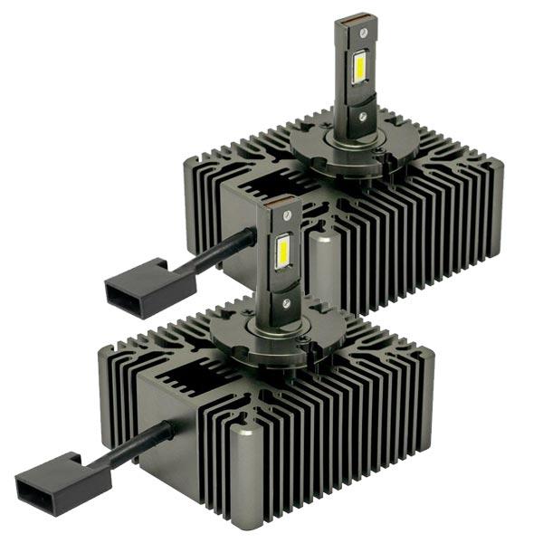 Generalmente installate su Audi, Citroen e Gruppo FCASi tratta delle nuove lampade D5S in uso ormai da qualche anno sulle auto di segmento medio-alto.Le D5S a scarica di gas Xeno, grazie ai soli 2.000 Lumen, non necessitano di correttore assetto fari automatico e lavafari per essere installate.Alimentazione: Connettore originale veicolo (D5S)Temperatura colore: 6000KLumen: 6500 (Set)Tecnologia: LED CSP Base: D5S PK32d-7 Volt/Watt: 12V 25W