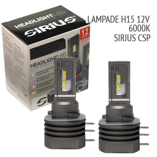 Con la nuova gamma Sirius, siamo riusciti in un´impresa impossibile: realizzare lampade LED per fari di proiezione senzaalcuna centralina esterna, senza ventola e senza dissipatore.Il risultato è una lampada con dimensioni pressochè identiche ad una normale lampada ricambio alogena.- Dimensioni pari all´originale- Senza dissipatore e senza centralina Base: H15 PGJ23t-1 Volt/Watt: 9-18V 13W